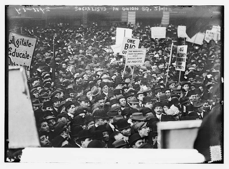 আন্দোলনে সমাজবাদীরা, ইউনিয়ন স্কয়ার, নিউইয়র্ক, ১৯১২